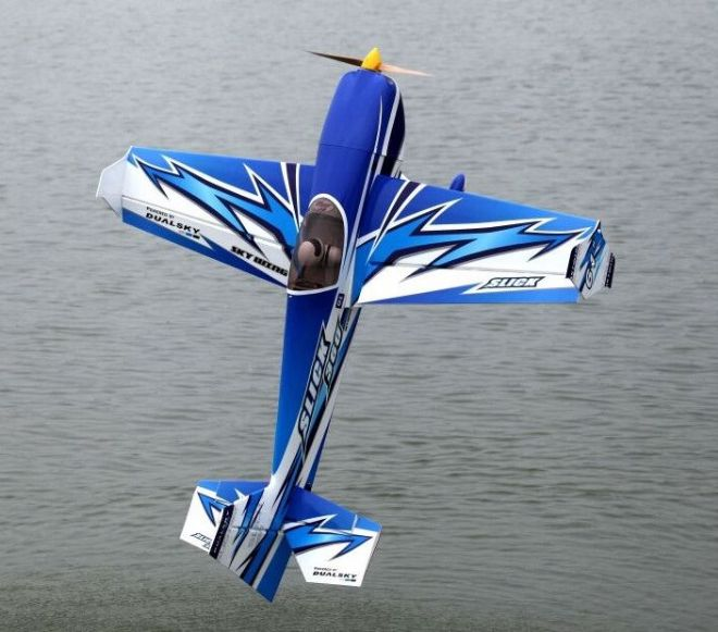 "Skywing 61"" Slick 360 - A in Lt Blue, Dk blue and white"
